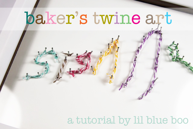 Baker's Twine Art (great for recording first signatures) #mothersday via lilblueboo.com