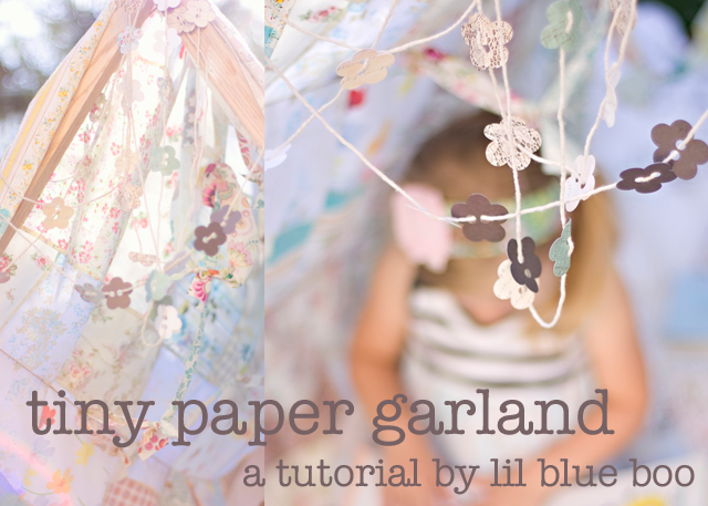Paper garland photography prop tutorial via lilblueboo.com