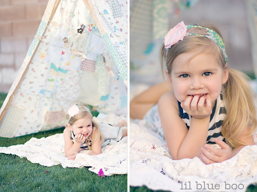 Patchwork Tent Photography Prop via lilblueboo.com