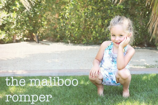 The MaliBoo Romper DIY Sewing ePattern via lilblueboo.com