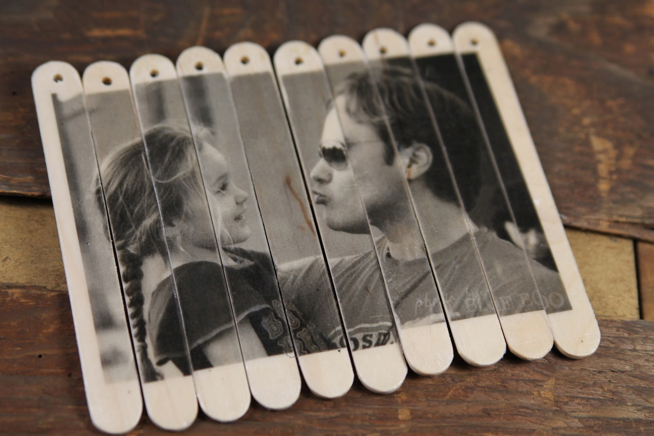 DIY Valentine Photo Puzzle - popsicle sticks