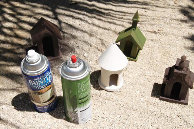 How to make a mini Fairy Garden Village (A Tutorial) via lilblueboo.com