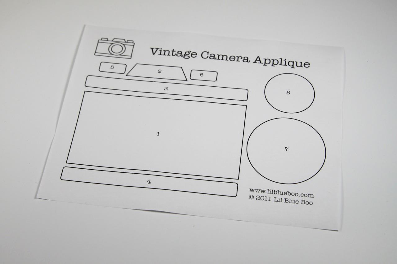 Vintage camera applique download printed via lilblueboo.com