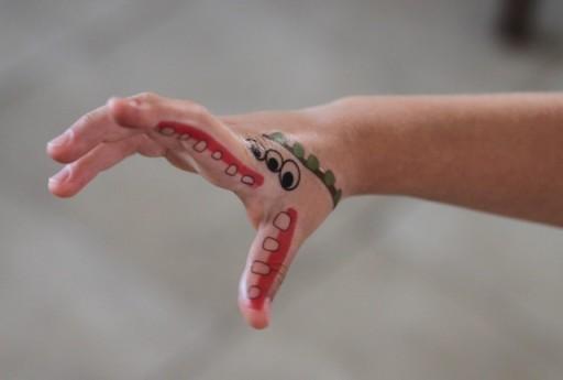 Monster Hand Tattoos DIY Tutorial and Free Download via lilblueboo.com