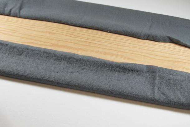 Process for a tabletop ironing board diy tutorial via lilblueboo.com