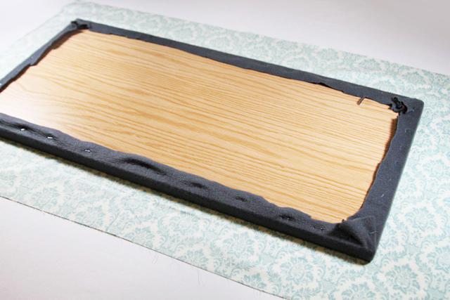 Process III for a tabletop ironing board diy tutorial via lilblueboo.com