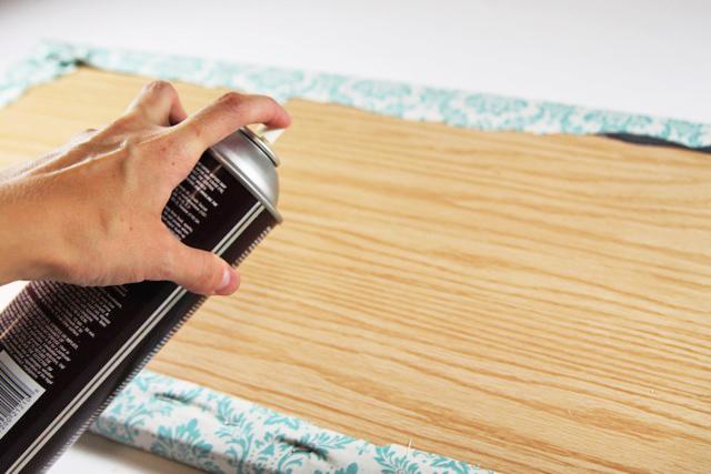 Process 6 for a tabletop ironing board diy tutorial via lilblueboo.com