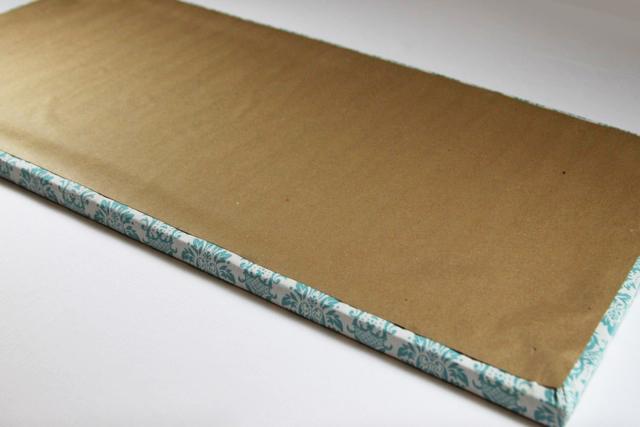 Process 9 for a tabletop ironing board diy tutorial via lilblueboo.com