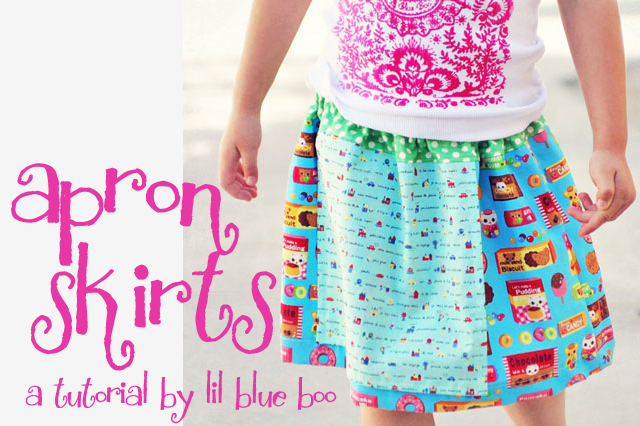 Apron skirt free pattern diy tutorial via lilblueboo.com