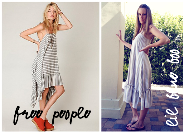 Make a free people inspired ruffle sundress. DIY tutorial via lilblueboo.com