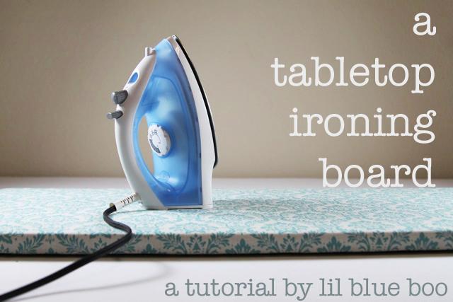 A tabletop ironing board diy tutorial via lilblueboo.com