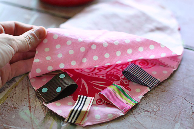 Printed Scrap Ribbon Baby or Dog Tag Toys DIY Tutorial via lilblueboo.com