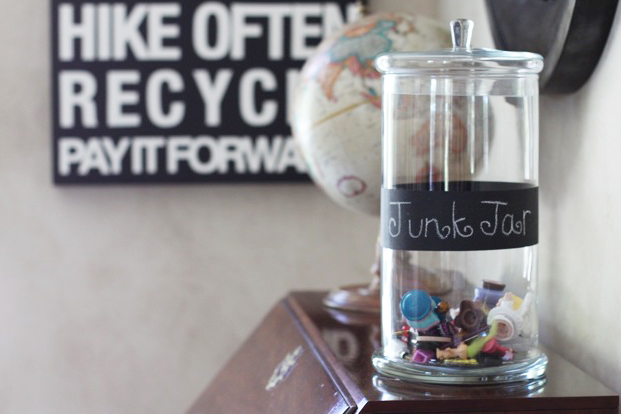 Make a Junk Jar to hold random items via lilblueboo.com