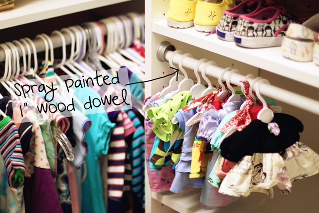 Simple Doll Clothing Storage via lilblueboo.com