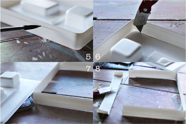 How to turn a composition notebook into an iPad cover Step 5 through 8 DIY tutorial via lilblueboo.com DIY tutorial via lilblueboo.com
