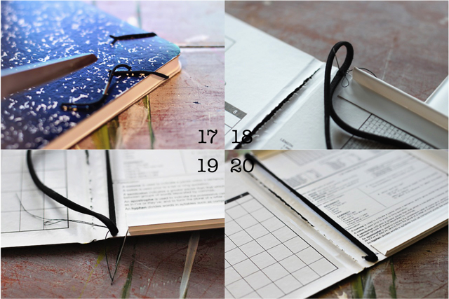 How to turn a composition notebook into an iPad cover Step 17 through 20 DIY tutorial via lilblueboo.com DIY tutorial via lilblueboo.com