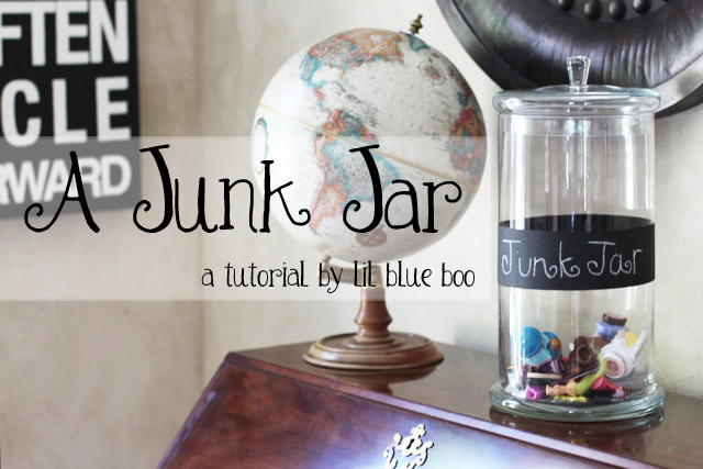 Make a Junk Jar via lilblueboo.com