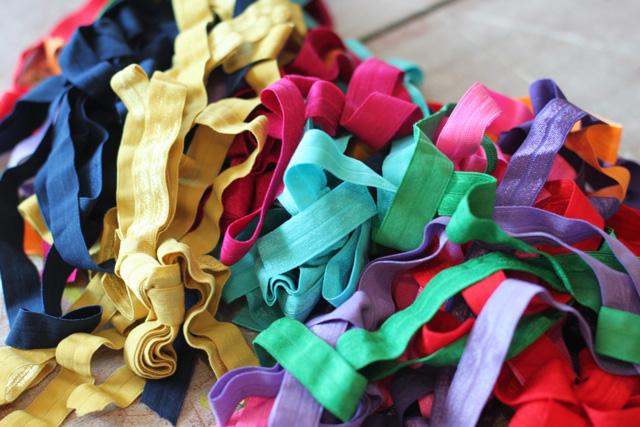 Jar of Elastic Hairbands (using FOE Elastic and Glass Etching) via lilblueboo.com
