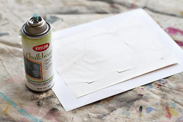 How to make chalkboard paper diy tutorial via lilblueboo.com