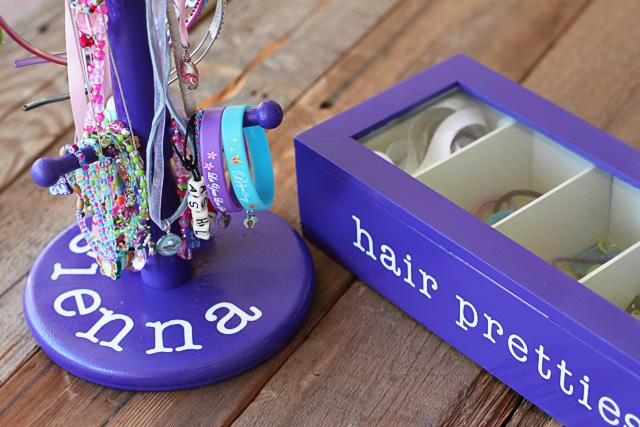 Thrift store pieces made into accessory organizers via lilblueboo.com