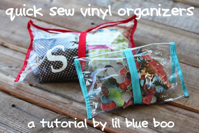 quick sew vinyl organizer