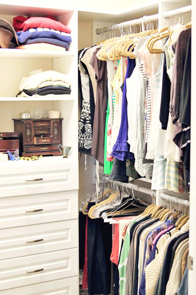 Closet Organization via lilblueboo.com