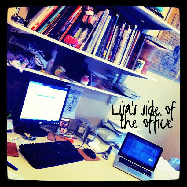 Behind the scenes Lisa Office Side via lilblueboo.com