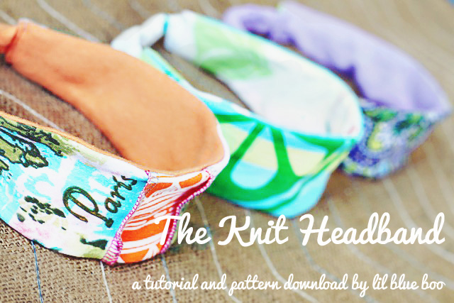 How to make a knit headband. Free pattern download. DIY Tutorial via lilblueboo.com