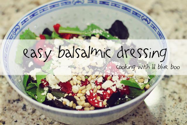 Easy Balsamic Dressing and Salad Recipe via lilblueboo.com