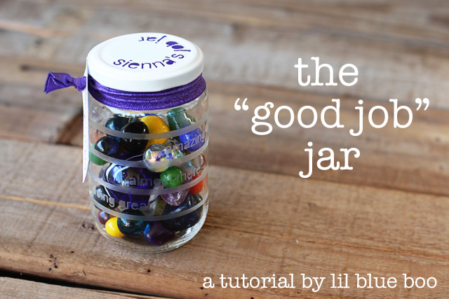 The Good Job Jar via lilblueboo.com