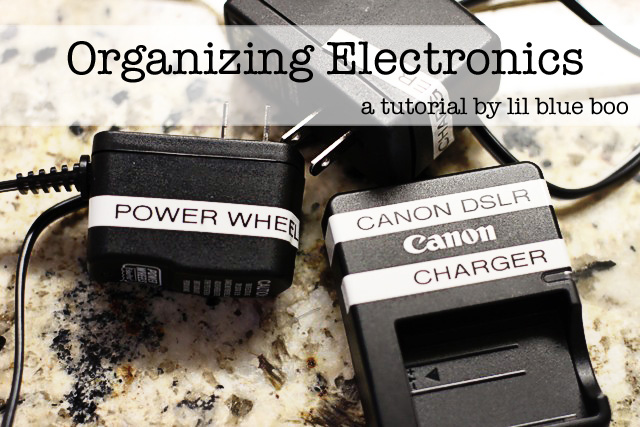 Tips for Organizing Electronics via lilblueboo.com