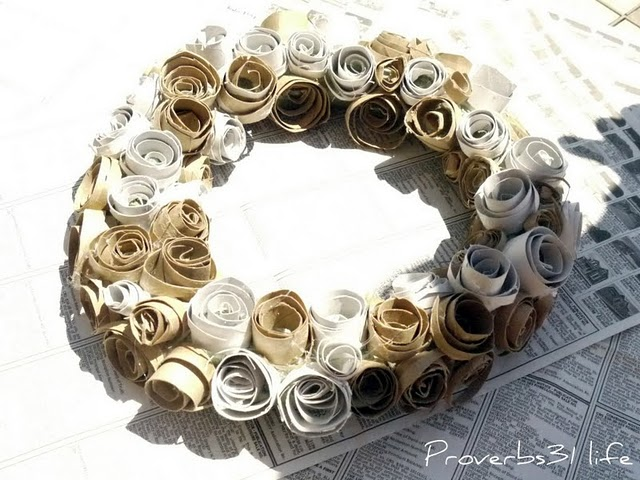 Naver for Flowers made out of toilet paper rolls