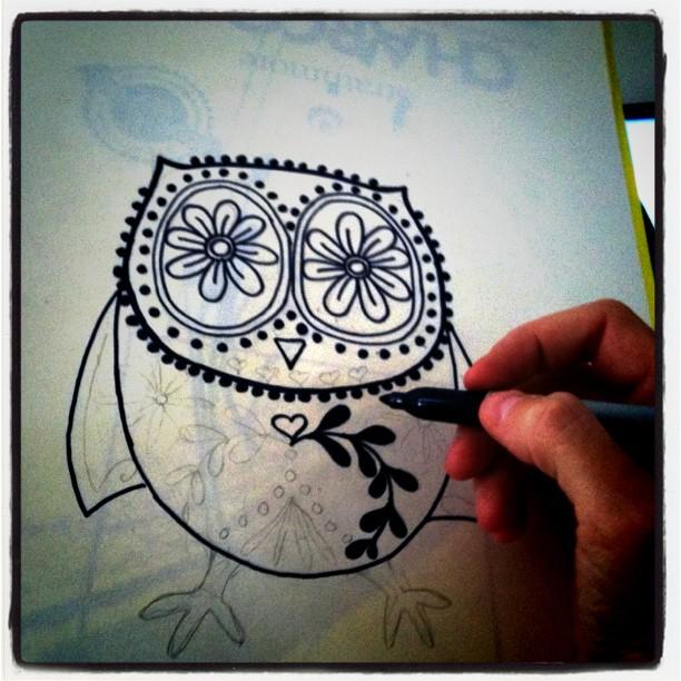 Frida the Owl via lilblueboo.com