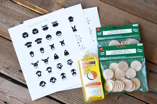 A Matching Game (materials)  via lilblueboo.com