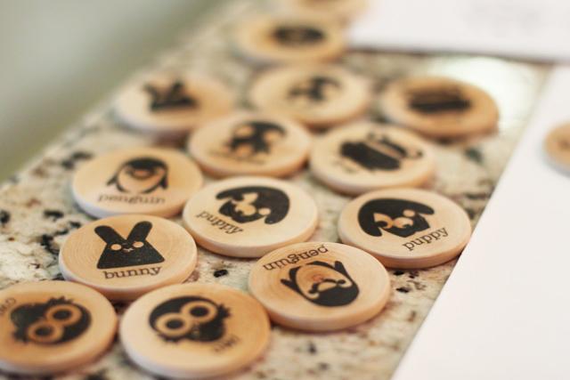 Wood Memory Matching Game (step 4) via lilblueboo.com