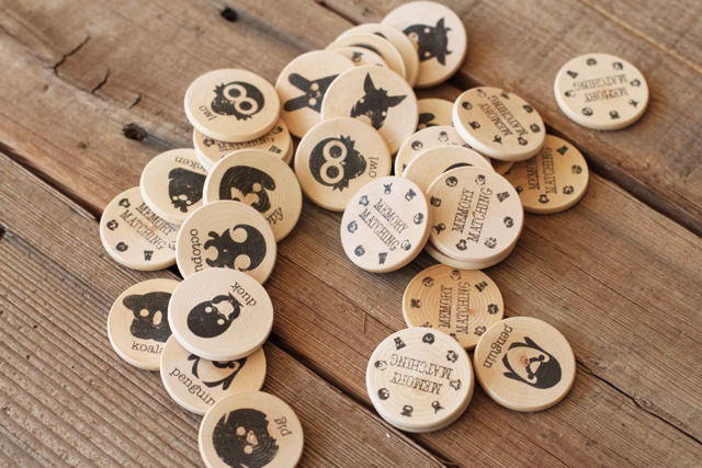 A Matching Game (using wood pieces)  via lilblueboo.com