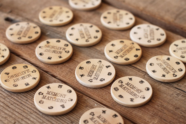 Wood Memory Game  via lilblueboo.com