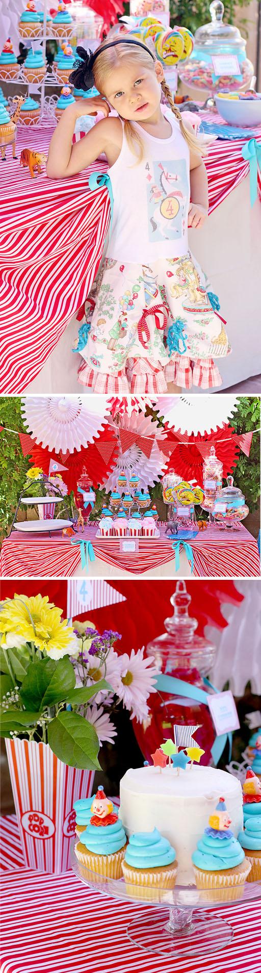 Circus Carnival Birthay Party via lilblueboo.com