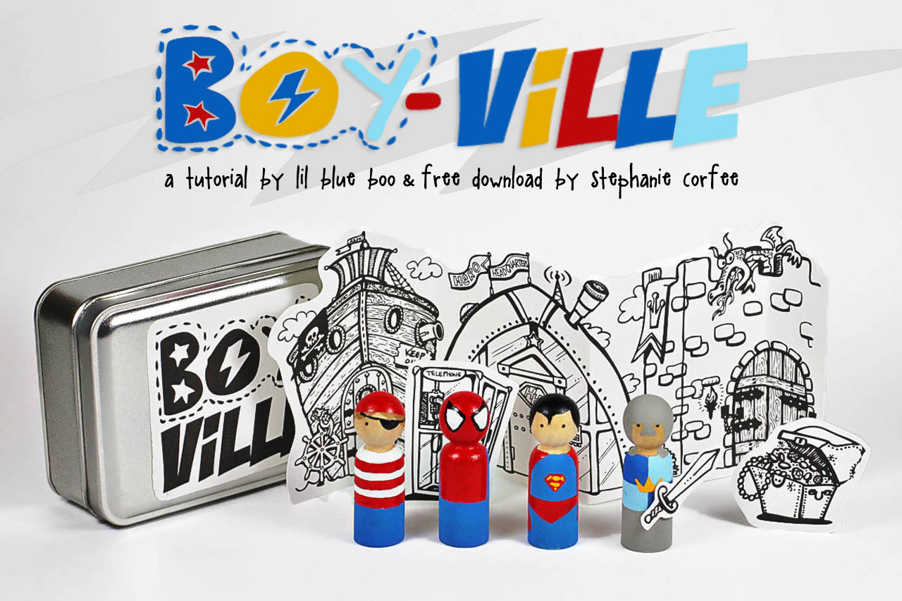 Boyville DIY project with free download via lilblueboo.com