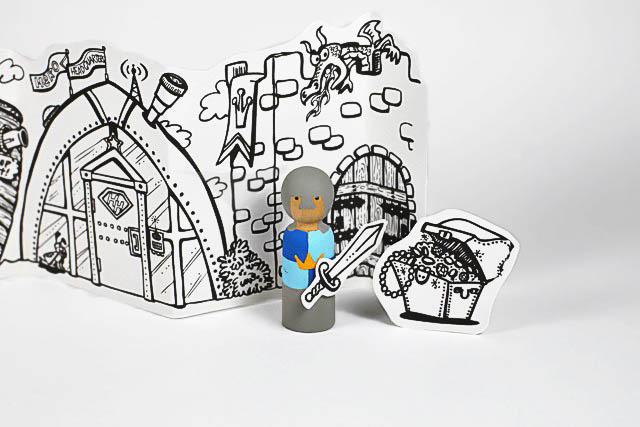 DIY Princess and Super Hero Peg Doll Valentines or Gifts via lilblueboo.com