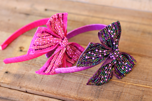how to make ribbon wrapped headbands
