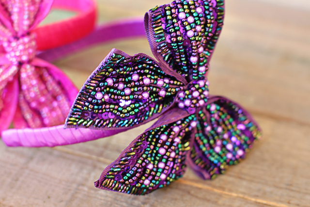how to make ribbon headbands with bows