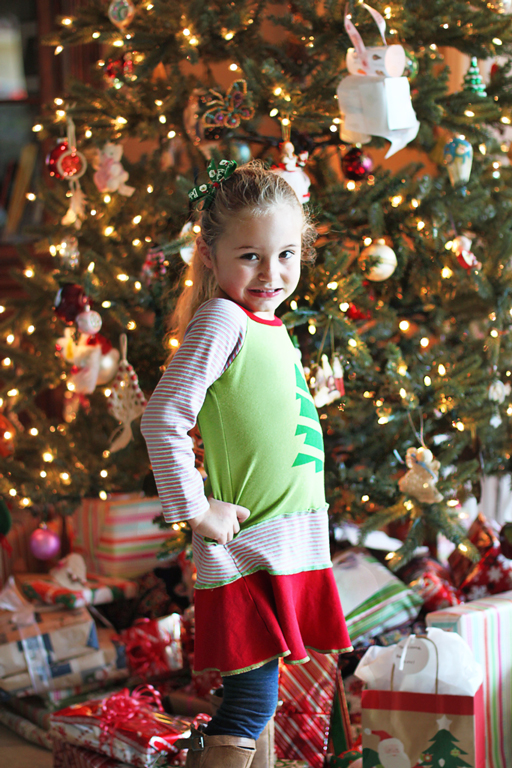 Christmas with Cancer - Boo in her Lil Blue Boo Christmas Dress
