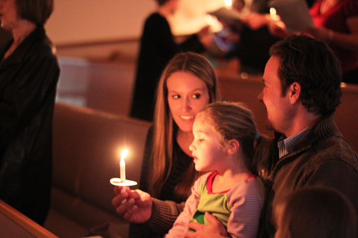 Candlelight Service in Church