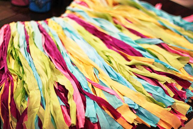 Ribbon wall garland, Fabric garland