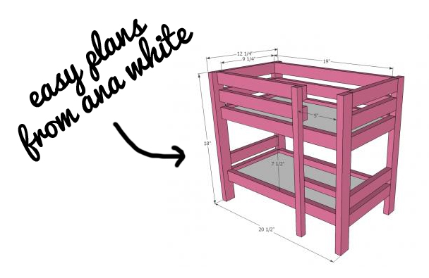Doll bed plans from ana white via lilblueboo.com