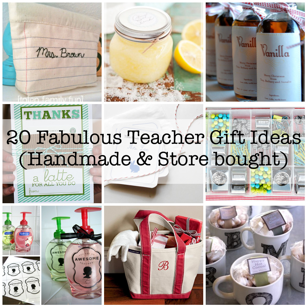 Homemade Teacher Gift Ideas: Meaningful Presents That Teachers
