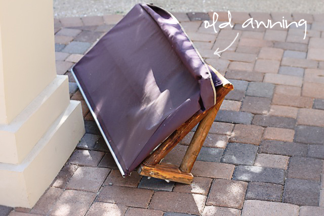 How to make a shop awning for play kitchen