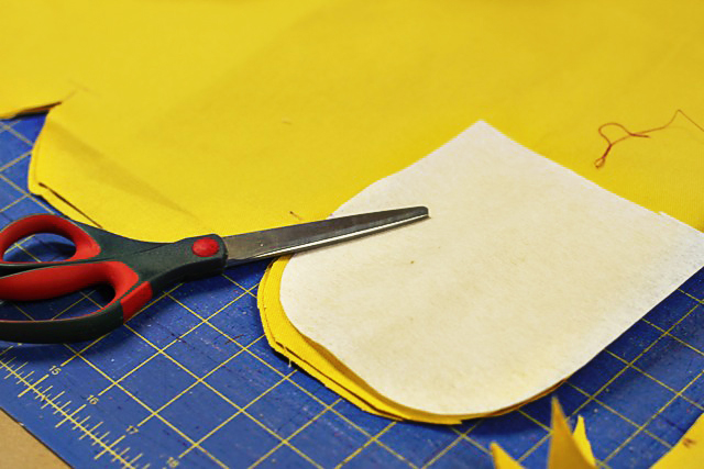Making a template for scalloped edges