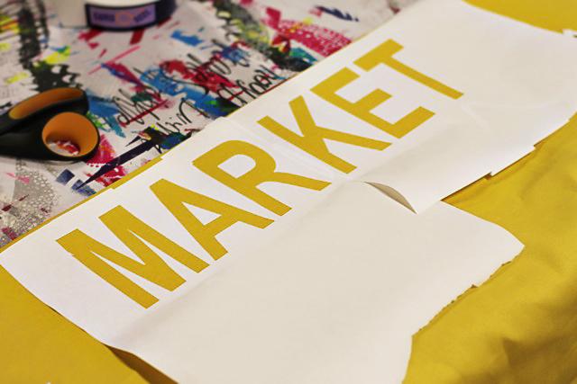 DIY Kids Play Market - Freezer Paper Stencil